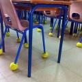 Grande collecte de balles de tennis pour limiter le bruit dans les classes
